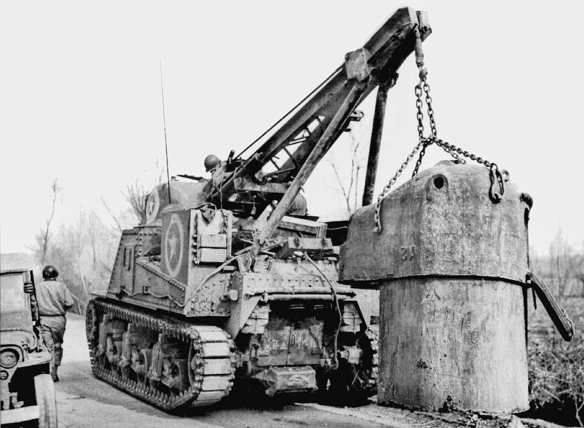 Panzernest removal at Mt. Lungo, Italy. Jan 1944.