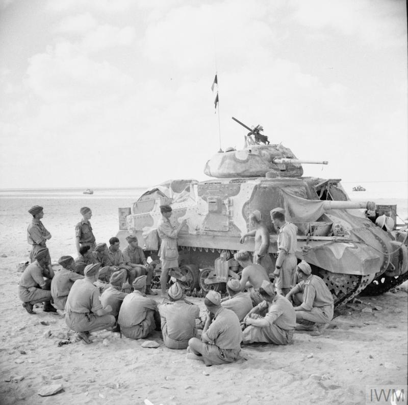 Tank crews receiving instruction on the Grant tank, 9 Sep 1942. IWM photo E 16625