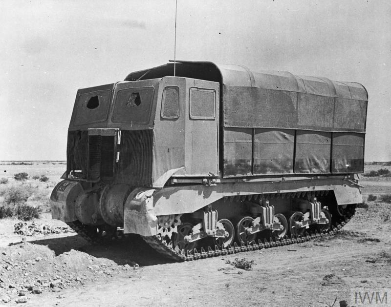 A Grant tank fitted with 'sun shield' lorry camouflage, Jun 1942. IWM photo E 13376