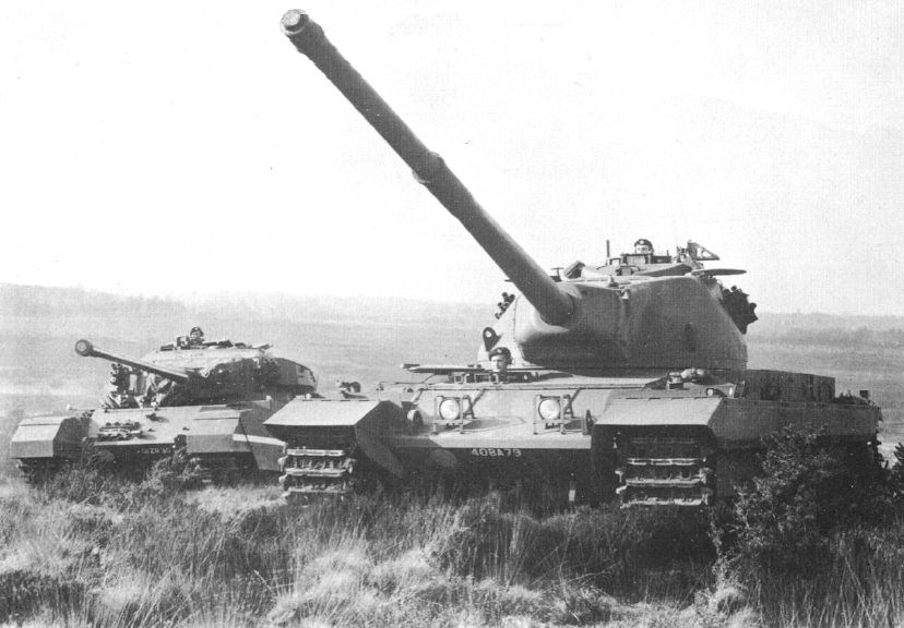 Conqueror MK.I in the foreground, Centurion MK.3 in the background.