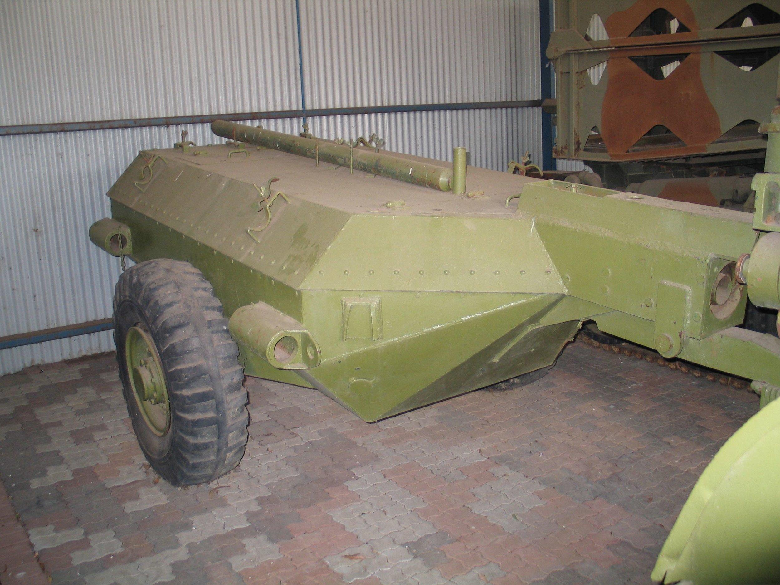 Armored fuel trailer for the Churchill Crocodile.