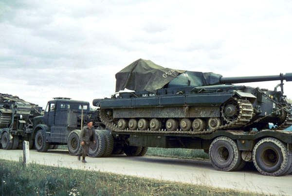 FV214 Conqueror Mk 2 during transport, 1950s.
