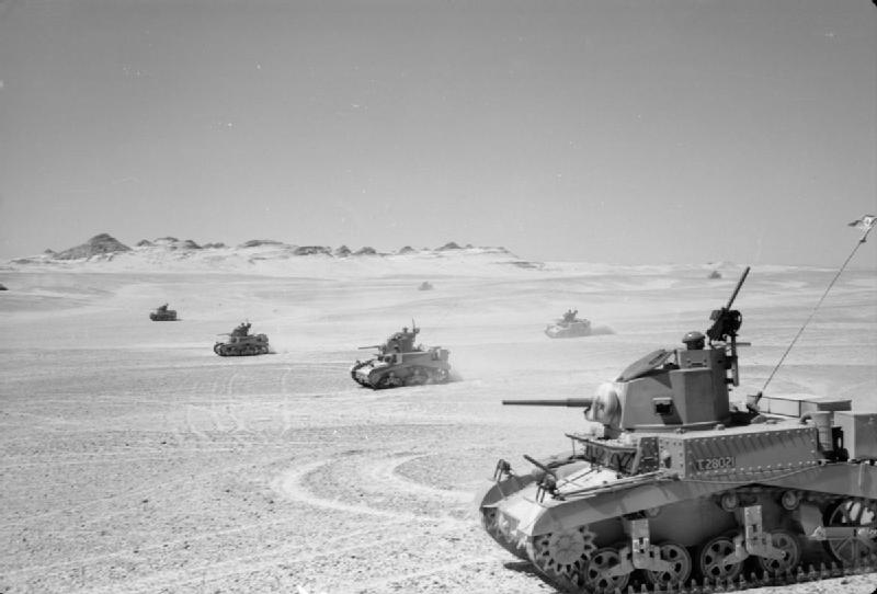8th King's Royal Irish Hussars training with their new Stuart tanks, 28 Aug 1941. IWM photo E 3467E.