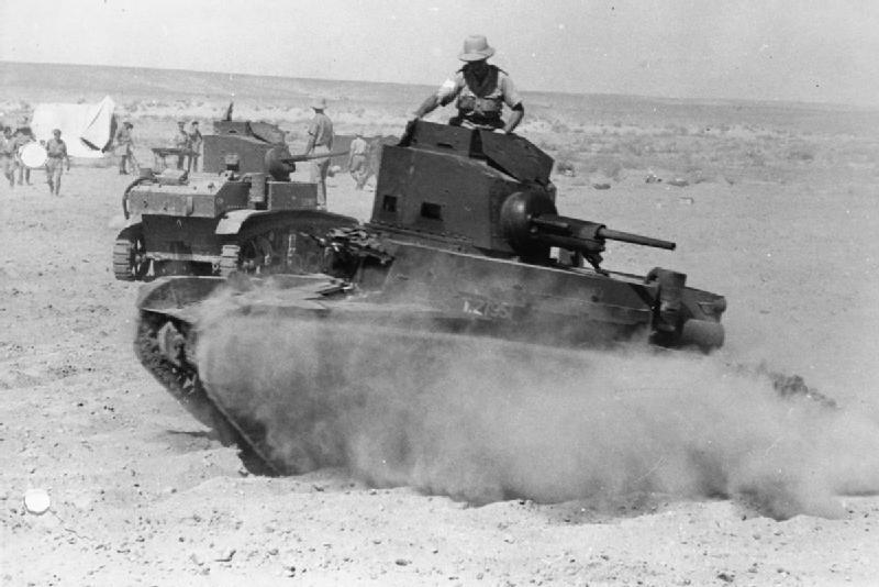 New American M3 Stuart tanks on test, 19 Aug 1941. IWM photo E 3410E.