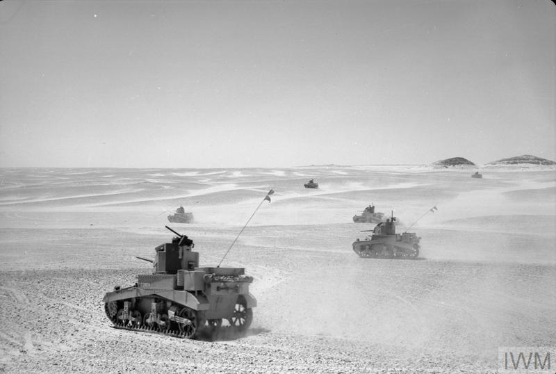 8th King's Royal Irish Hussars training with their new Stuart tanks, 28 Aug 1941. IWM photo E 3469E.