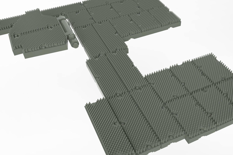 Hull top add-on armor modules.
