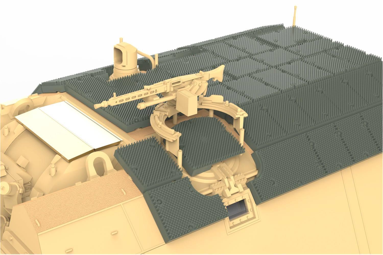 Turret Machine Gun Option - German MG3 machine gun. The ring mount can be built open or closed.