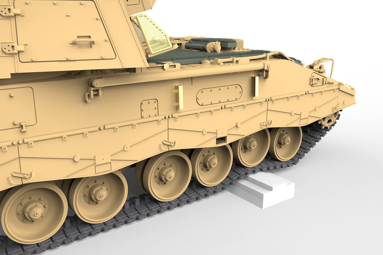 Movable suspension system. Cement-free workable tracks.