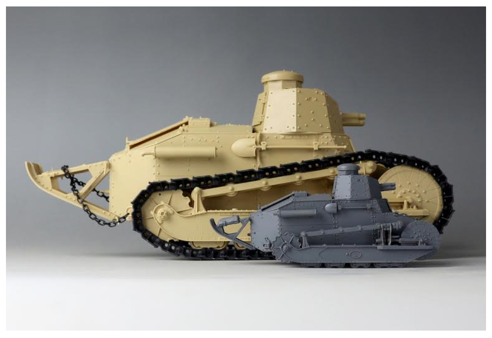 SCALE COMPARISON: TAKOM'S 1/16th FT to MENG'S 1/35th version.