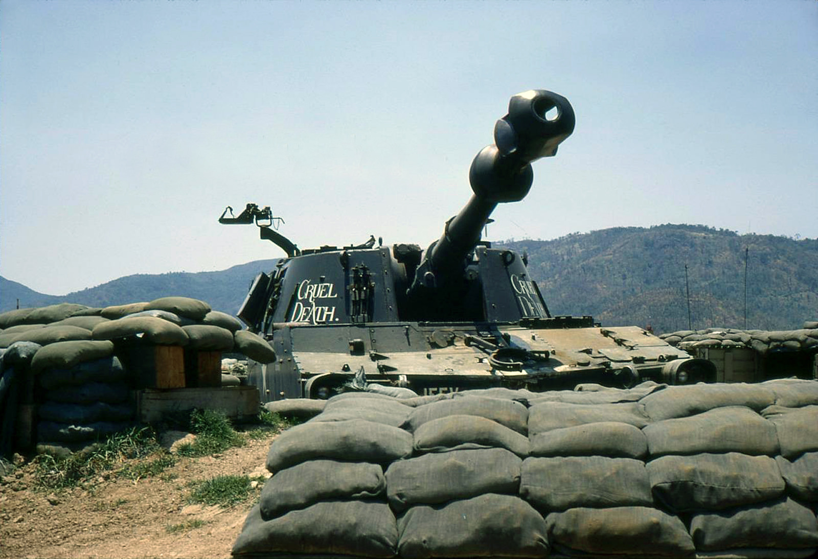 ''CRUEL DEATH'' M109 155MM SELF-PROPELLED HOWITZER, 1971.