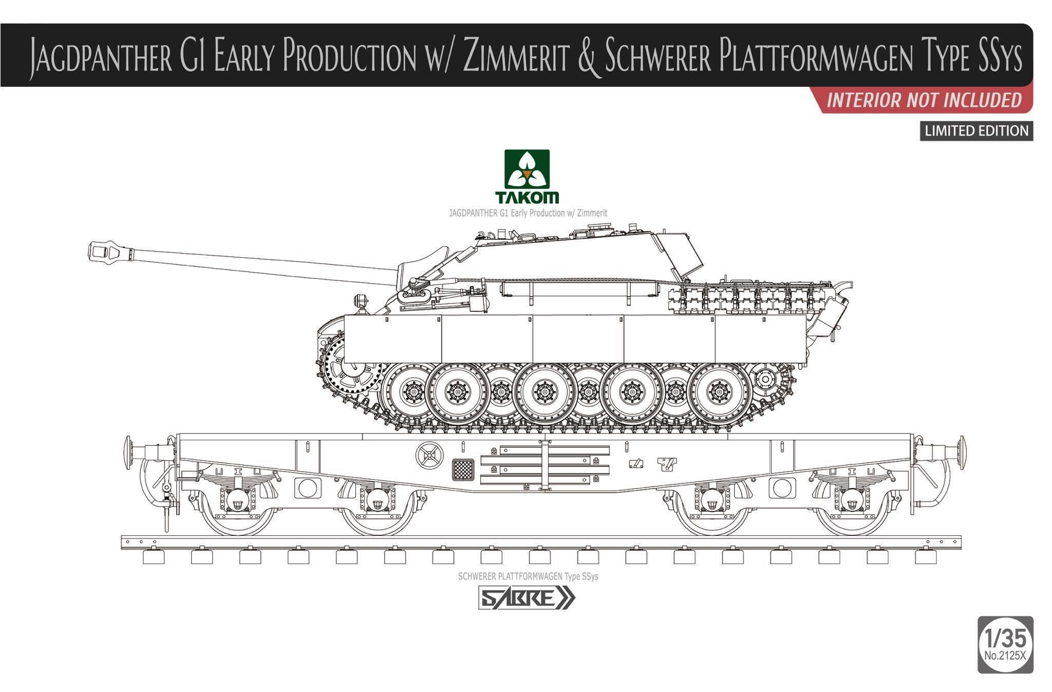 TAKOM # 2125X 1-35 Jagdpanther G1 Early Production wZimmerit & Schwerer Plattformwagen Type SSYS by Sabre.jpg