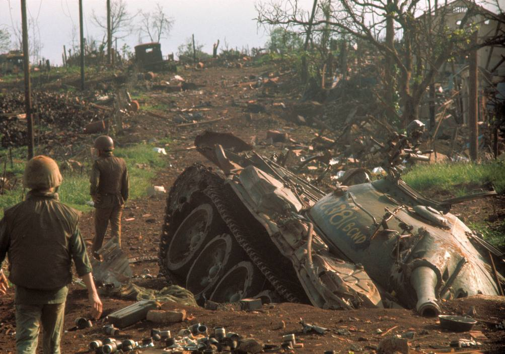 Knocked-out NVA T-54.jpg