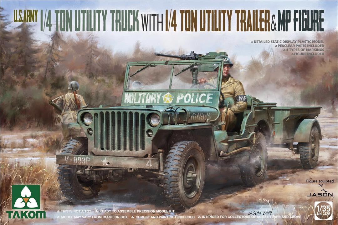 TAKOM # 2126 1-35 US ARMY 1_4 TON UTILITY TRUCK w. 1_4 TON UTILITY TRAILER & MP FIGURE.jpg