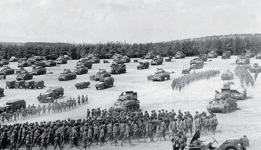 2AD staging in southern England for the Normandy invasion.
