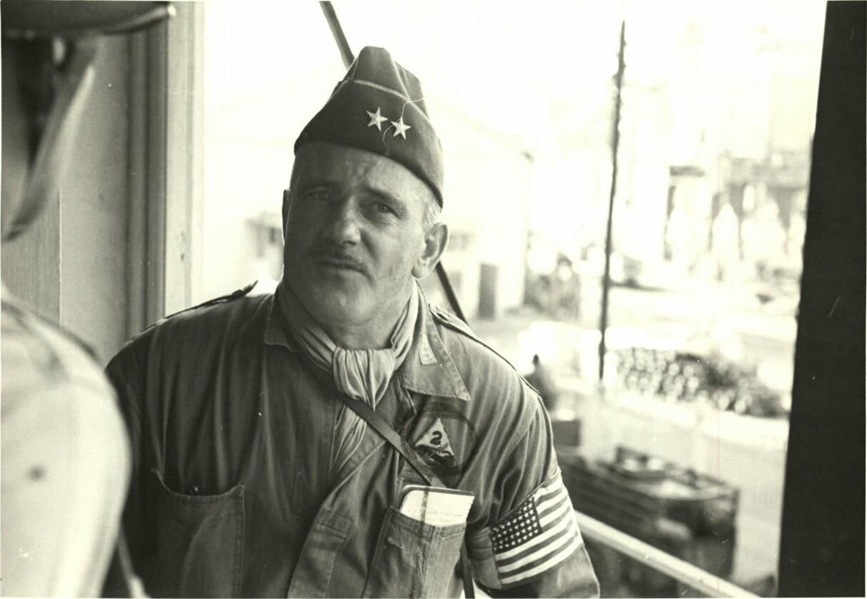Major General Ernest N. Harmon. July 1942 – 6 April 1943. Pictured at the time of Operation Torch.