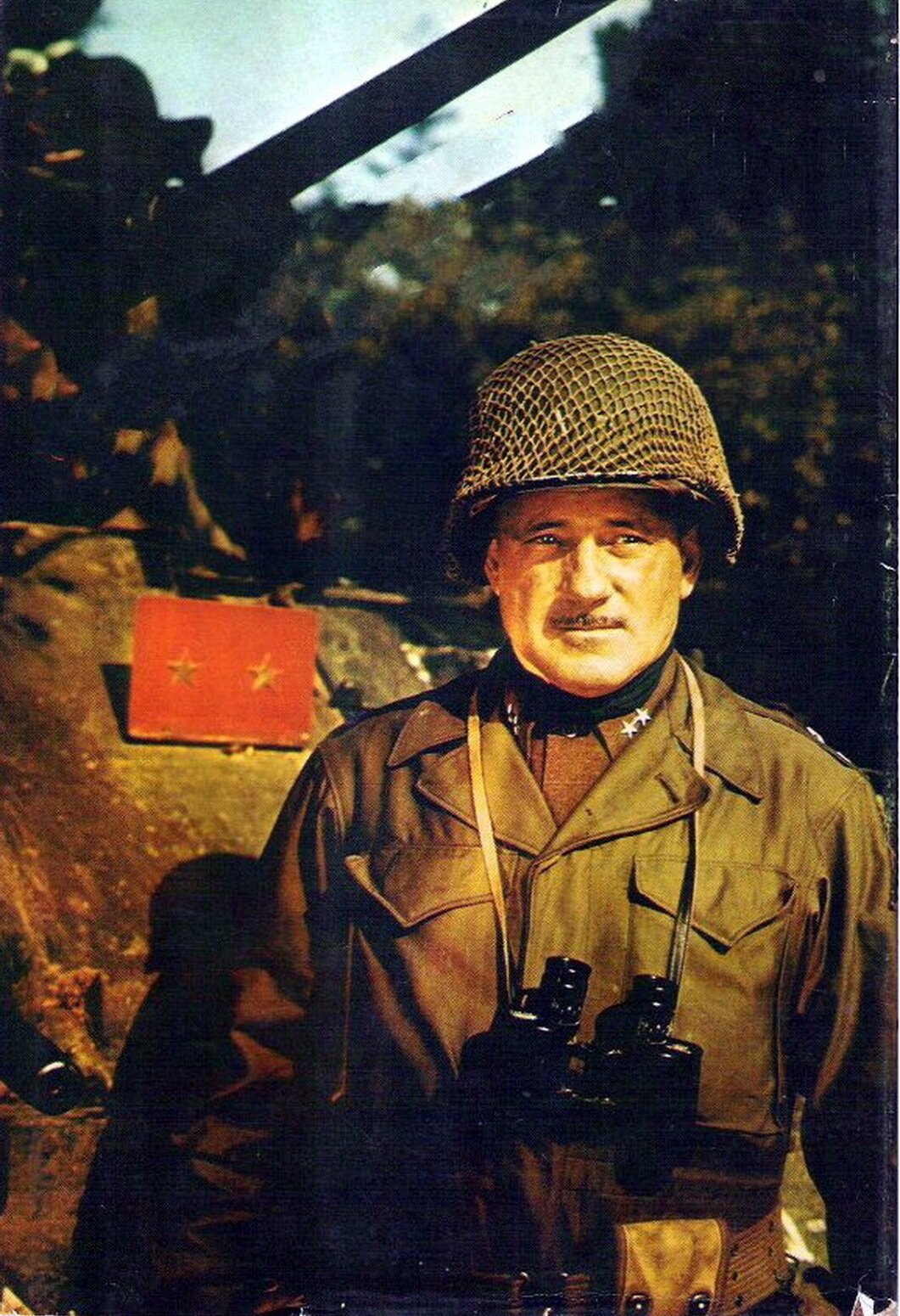 """""""Old Gravel Voice"""" Major General Ernest N. Harmon. 12 September 1944 – 19 January 1945."""
