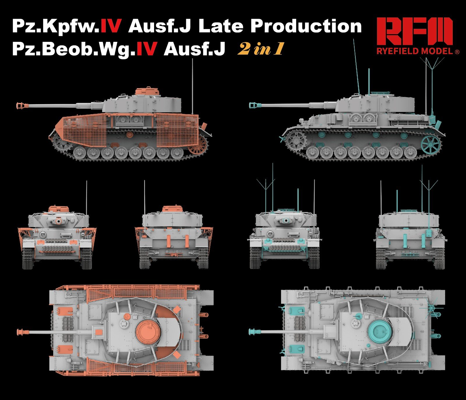 Ryefield-Model 1//35 RM5033 Pz.Kpfw.IV Ausf.J Late Production