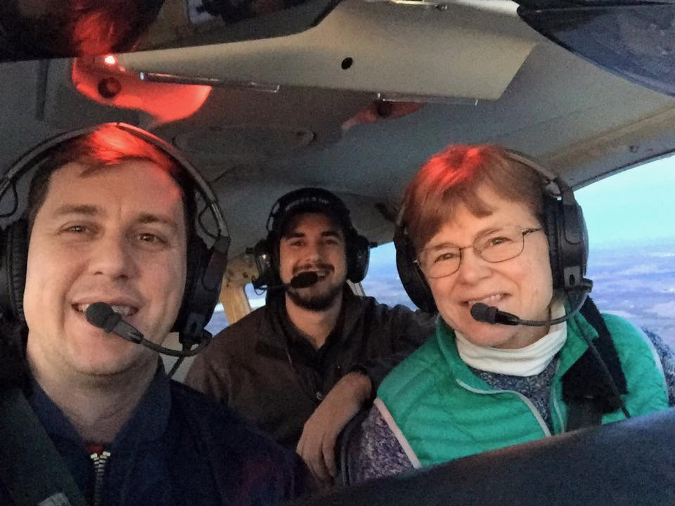 Doing a test flight with buddies