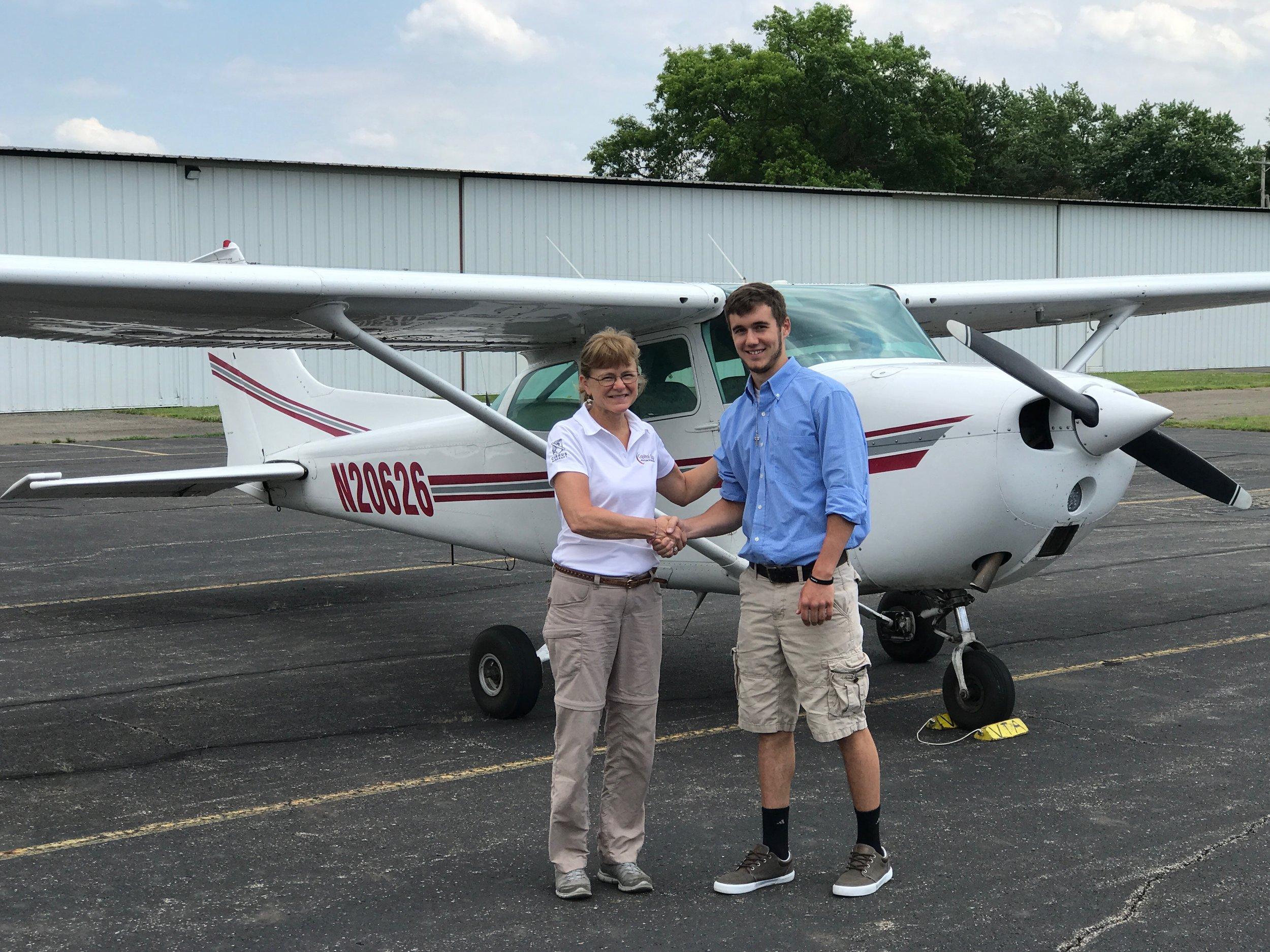 Congratulations-first Private Pilot PASS serving as Designated Pilot Examiner