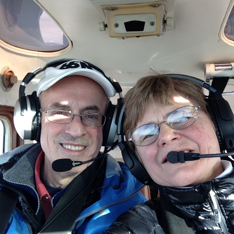 My partner in life, who flies 'sometimes'!