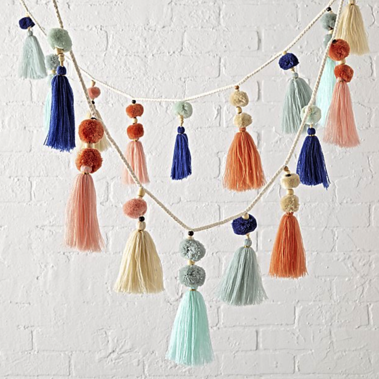 Pastel Tassel Garland from Crate & Kids