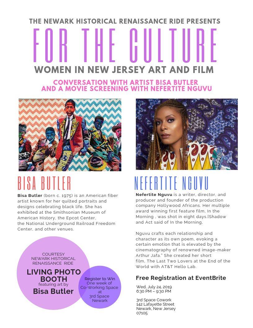 For the Culture  with Artist  Bisa Butler  & Filmmaker  Nefertite Nguvu
