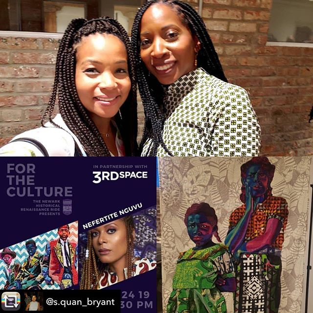 Repost from @s.quan_bryant using @RepostRegramApp - Lovely event/venue hosted by @newarkrenaissanceride @pchinneryphoto @hasmalik30 @delaniewest ! Nefertite Nguvu @hollywdafricans debuted her short film about art culture in Newark and the amazing fiber artist (there is no paint in her artwork), @bisabutler presented some of her recent pieces. Check out Bisa on @fox5ny this morning at 9:30!