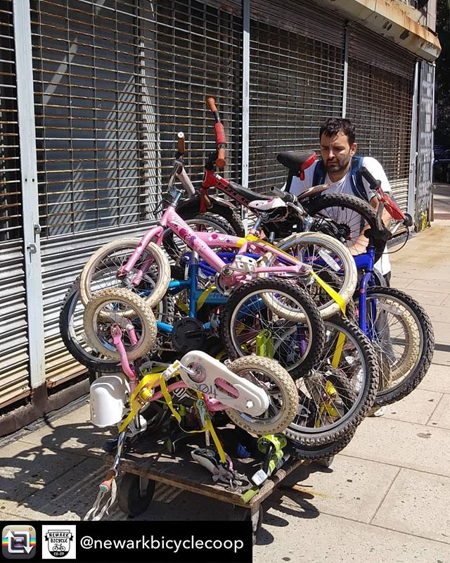 Repost from @newarkbicyclecoop using @RepostRegramApp - We are getting ready for a block party. The Newark Bicycle Co-op was invited to a local block party. We will be giving away some girls bikes and boys bikes. We would like to thank the now closed Bike Exchange for donating these bikes to us so we can fix them up and give them away. 🚴 🚴 🚴 🚴  Don't worry if it's not your block party this weekend that we are going to because we have plenty more kids bikes we plan to give away. Please stay tuned for more information about when and where the next bike give away will be. 🚴 🚴 🚴 🚴  Yes you're correct we don't use a car we use a cart instead. It's hardwork but our handcart gets the job done. 🚴 🚴 🚴 🚴 #newark  #bikeroom  #bikes  #bikelanes  #bikelife  #communityaction  #supportnewark