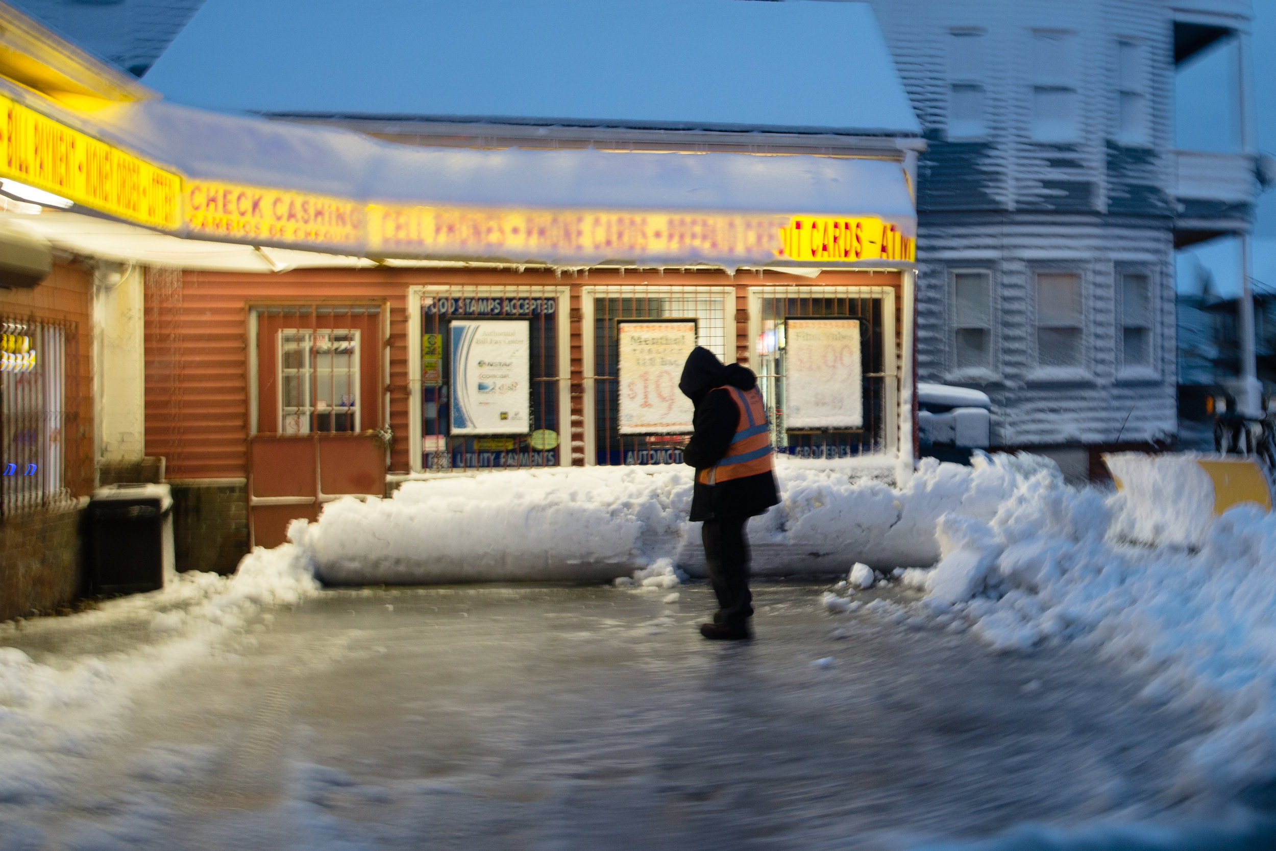 The morning after the blizzard. - New Bedford, MA