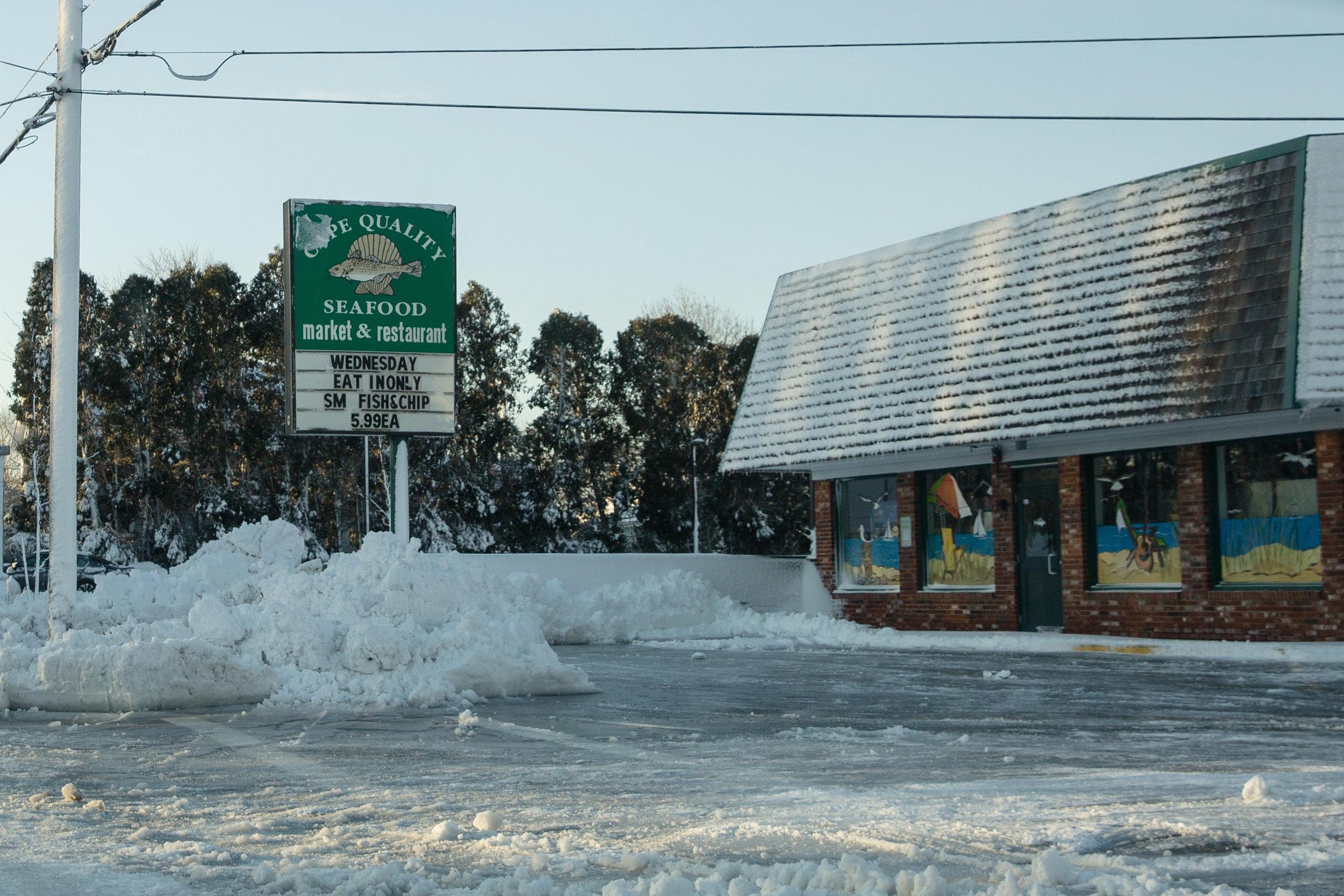 Cape Quality snowdrifts. - Dartmouth, MA