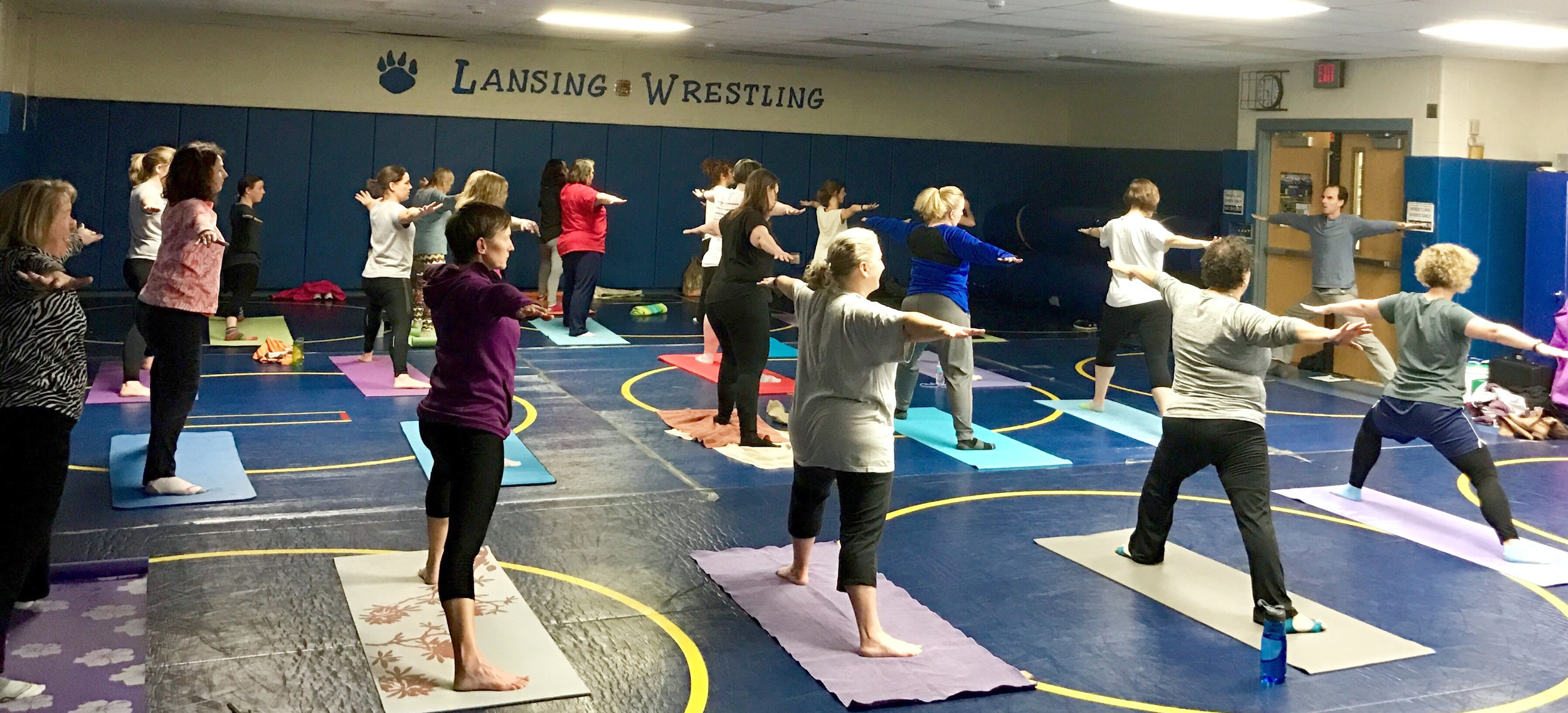 In-school yoga program for educators right after the school day