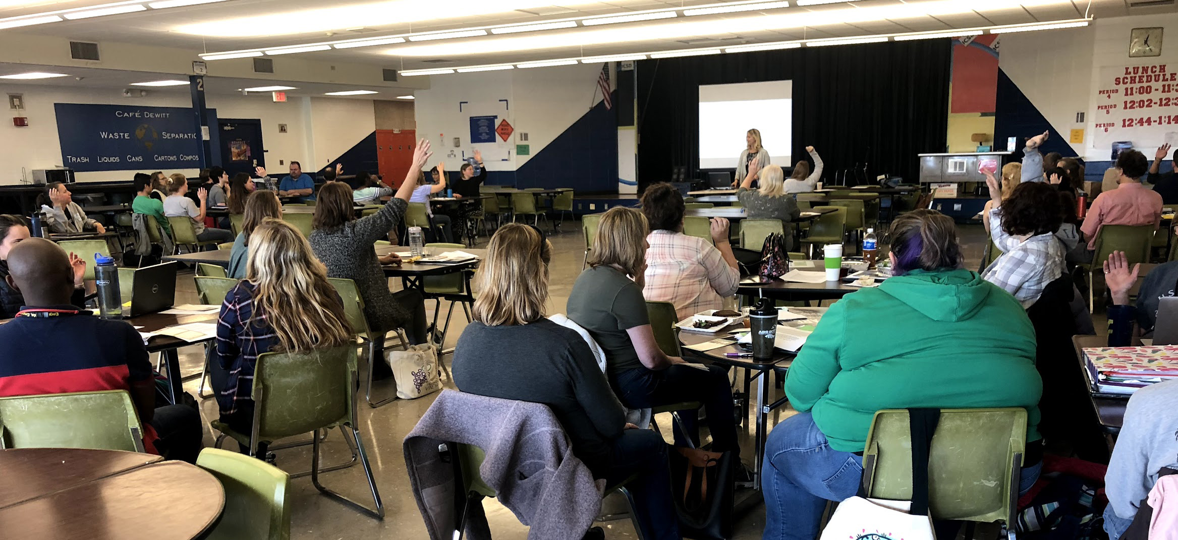 Jeannie leading a mindfulness workshop for school educators