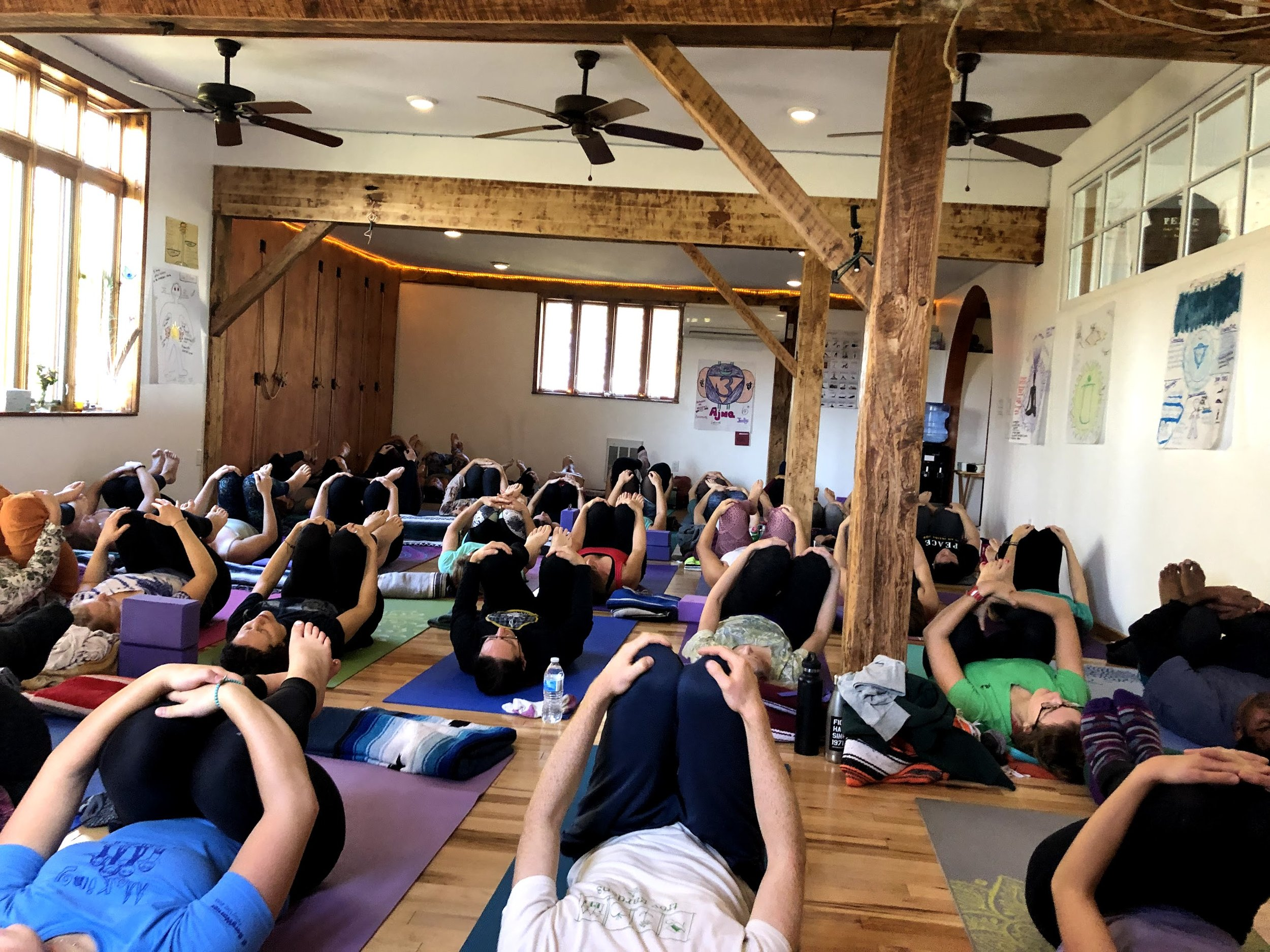 Recent community yoga class - we are at capacity and need to expand
