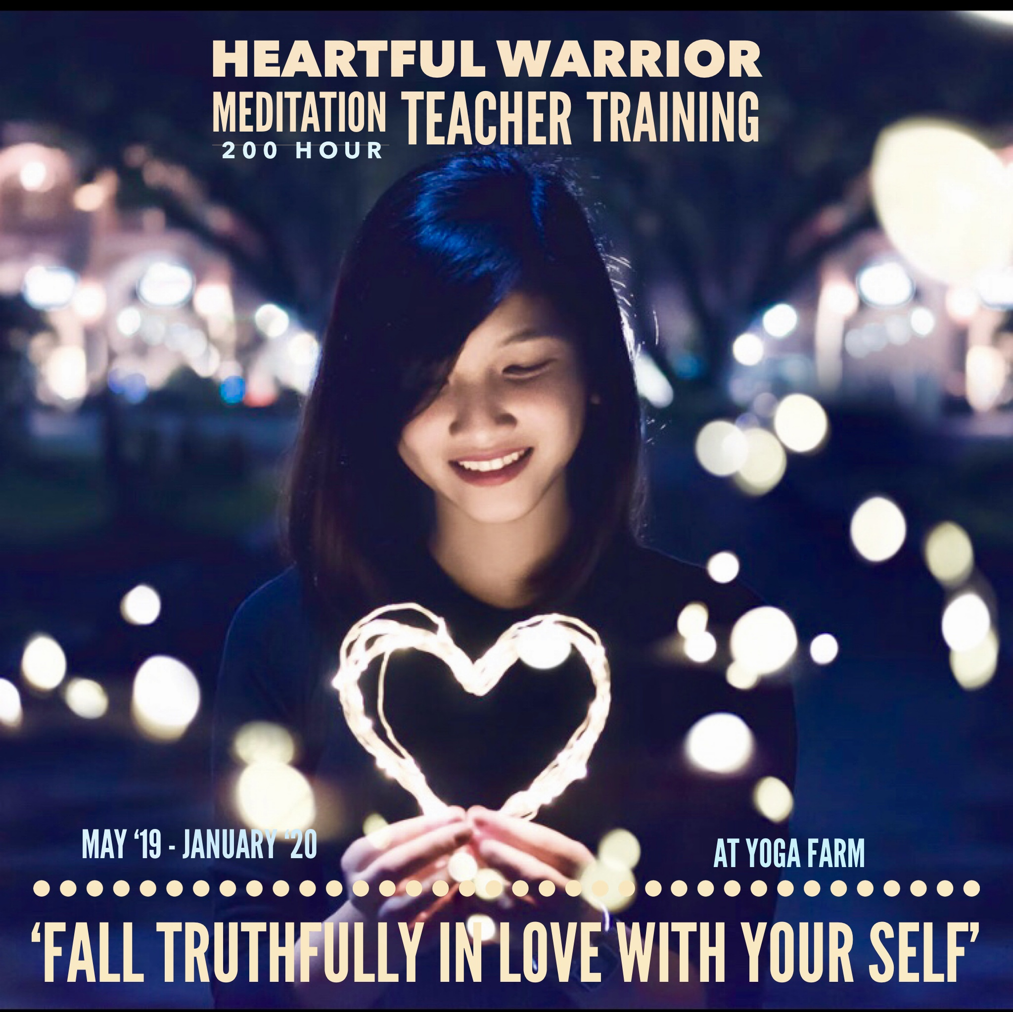 Our Heartful Warrior Course and Teacher Training will give you a direct experience of how to Live with Heartfulness