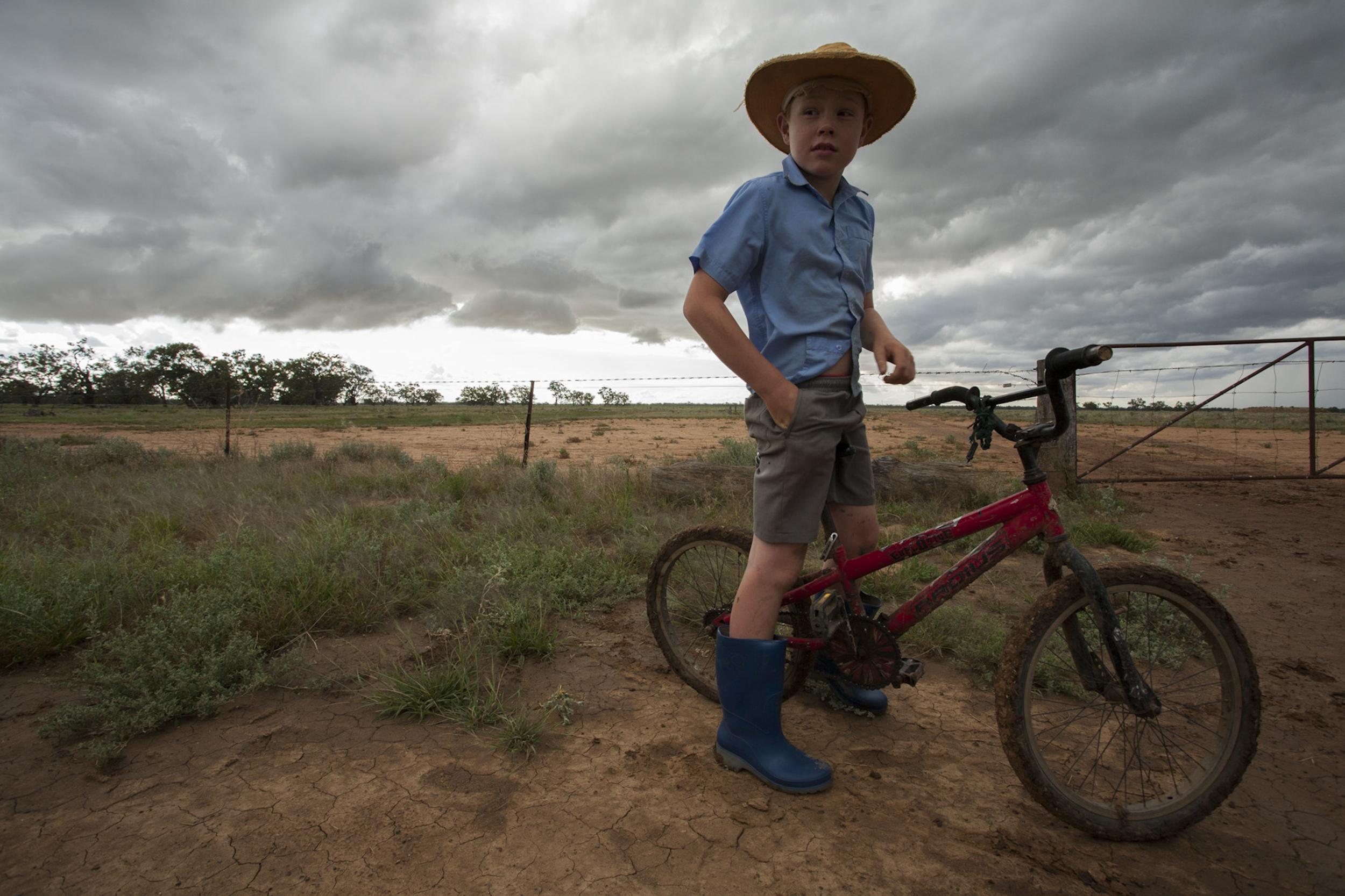 Marsh bike ride Macquarie Marshes, Australia
