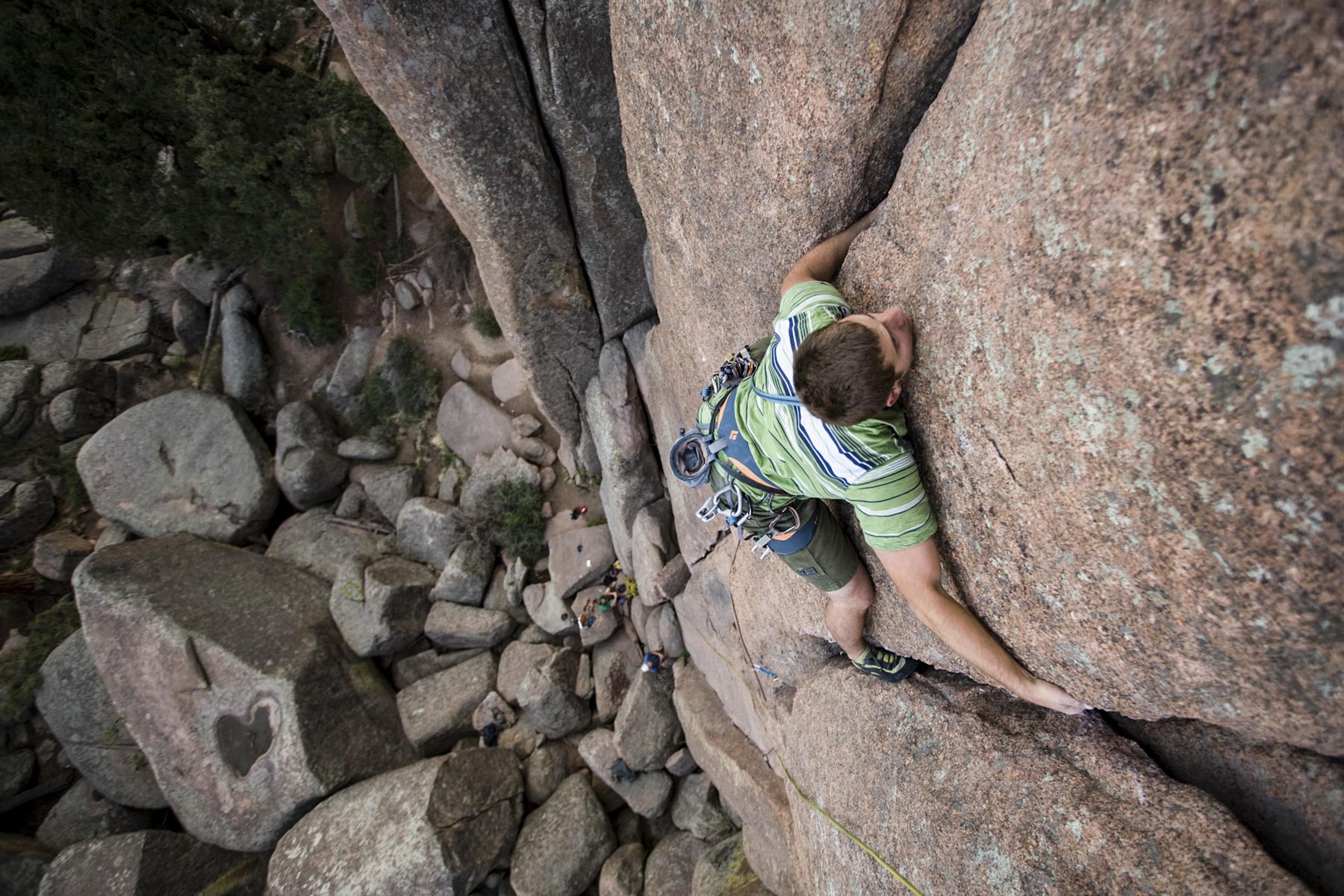 Climbing turkey rock South Platte, Colorado