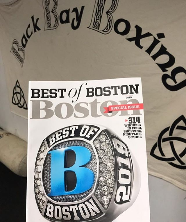 "Proud to be part of the team at @bostonmagazine's ""Best of Boston"" Boxing Gym @backbayboxing! Congratulations to Coach Johnny on a well-deserved recognition! #Boxing #TheChampIsHere #Fitness #BostonFitness"