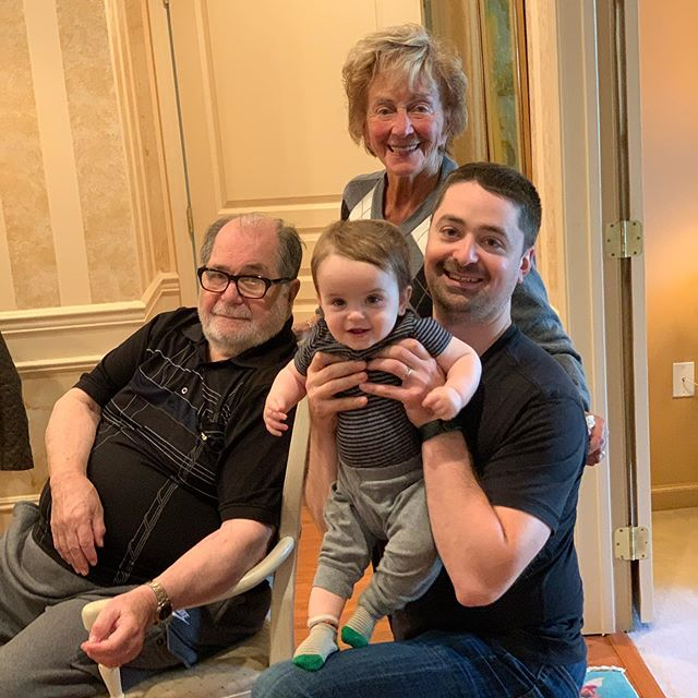 Leo had a big weekend visiting his Great Grandparents. We got to see Great Grandma Muriel in Connecticut and then Great Grandpa Jerry & Great Grandma Phyllis in New Jersey! @gracezakim #LeoPatrickZ #ThisIs90