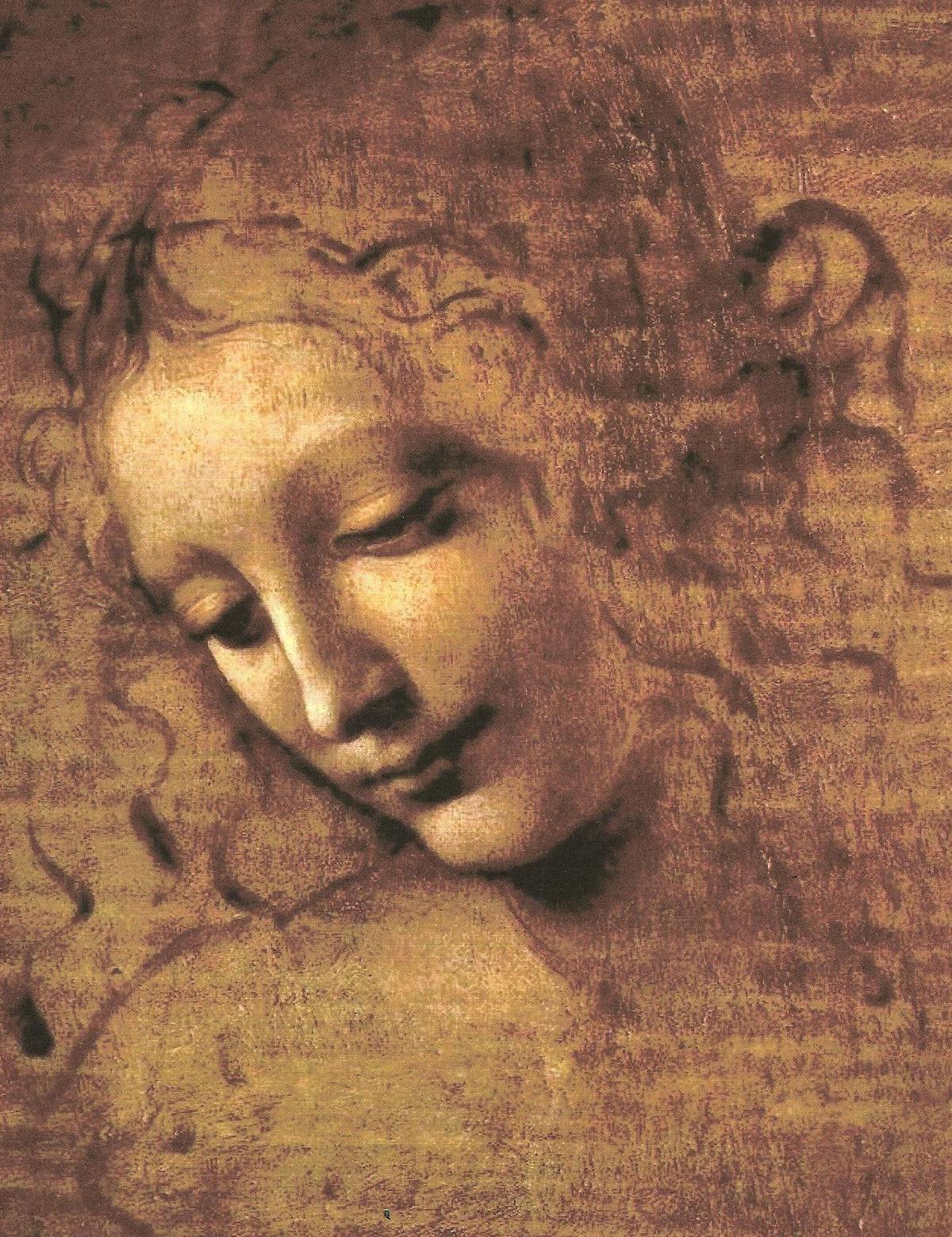 «La Scapigliata» cirka 1508, av Lenoardo da Vinci. Henger i Galleria Nazionale di Parma.