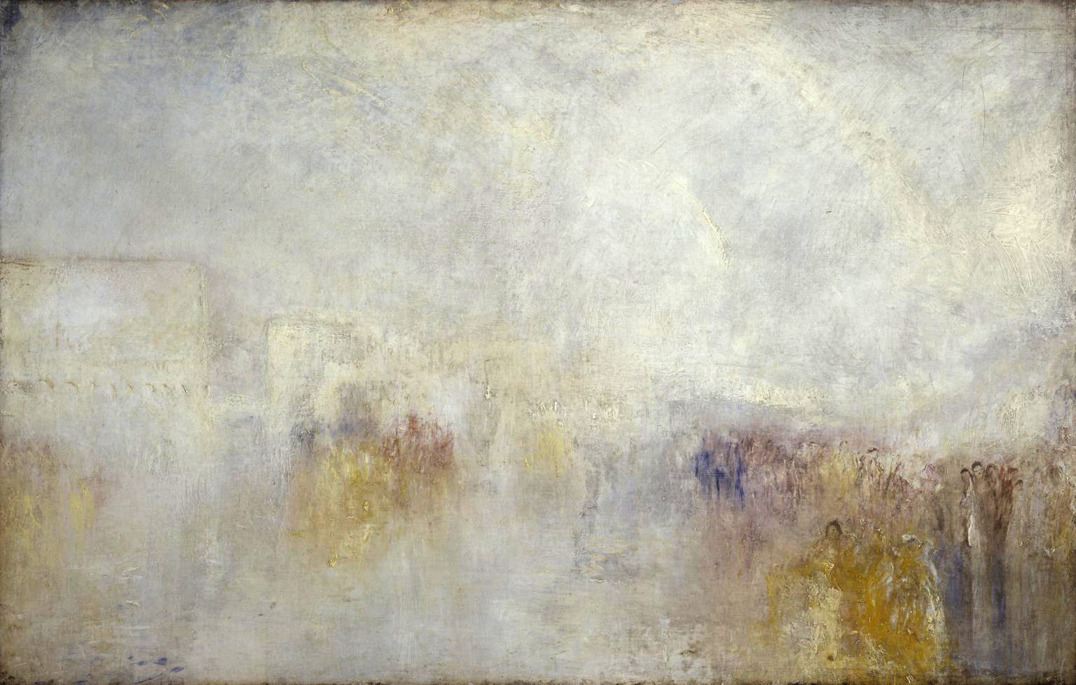 «Riva degli Schiavone, Venice: Water Fête» av Joseph Mallord William Turner