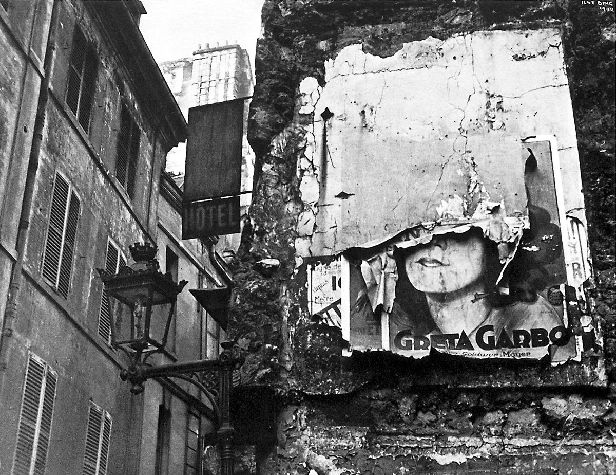 Greta Garbo Poster  av Ilse Bing. Paris, 1932