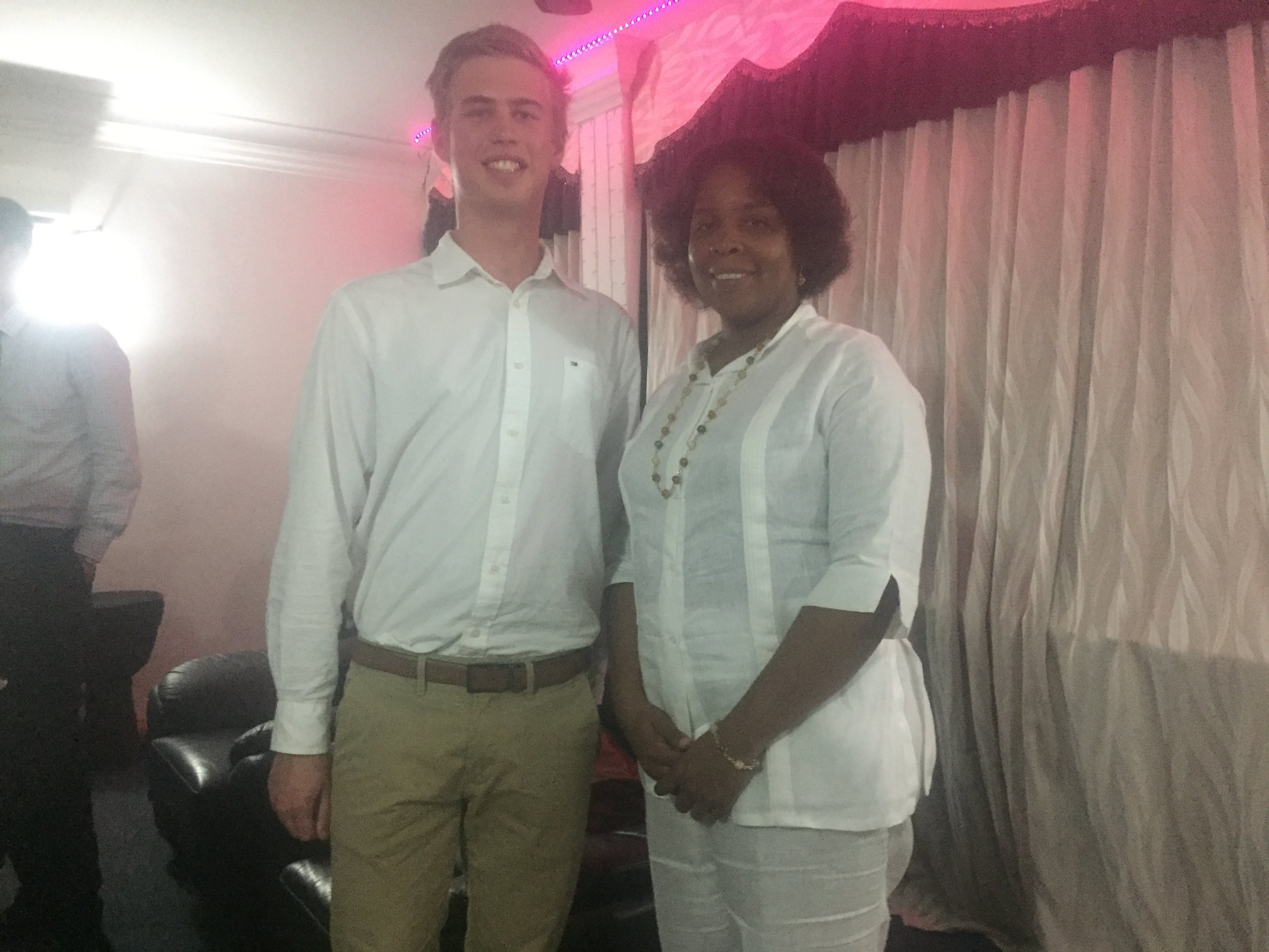 Shaun is pictured here with  Her Excellency Mrs. Ibete Fernandez - the Cuban Ambassador to Malaysia
