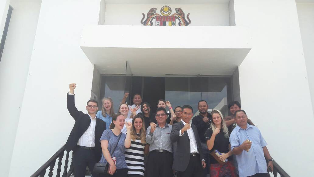 Macquarie students who worked with pacos trust to assist with amendments to indigenour land rights