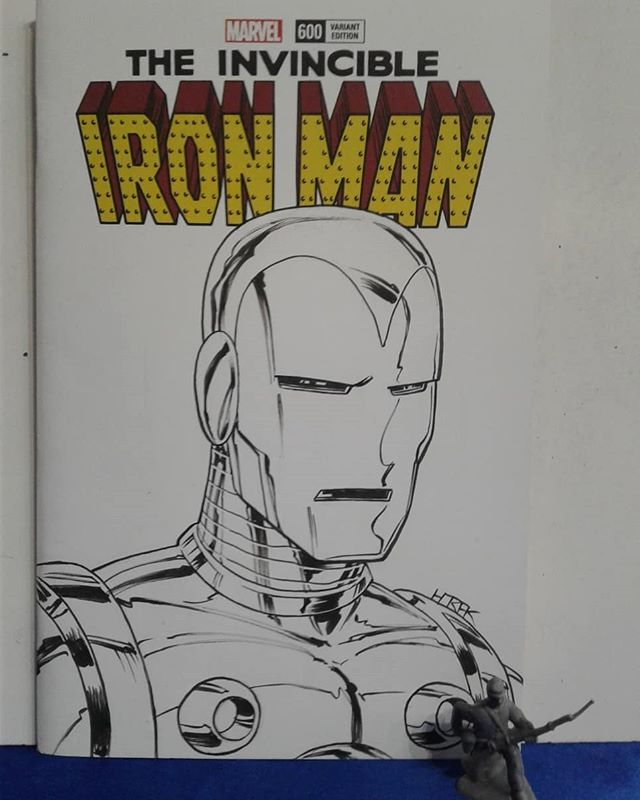 Iron Man sketch cover at Youngstown Comic Con