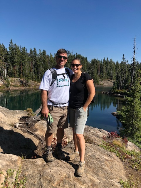 We live in a beautiful place! Hiking with my wife Emily on the gorgeous Tenes Lakes hike.