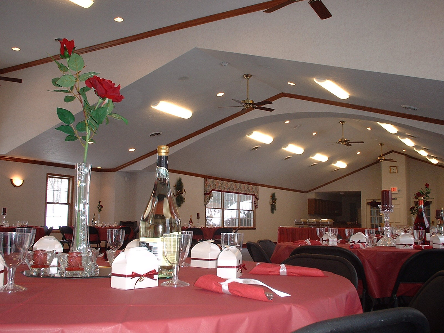 Residents can rent the party room to host birthdays, anniversaries, wedding or baby showers, wedding receptions, holiday celebrations for family or workers from the office, First Communions, business meetings or community group functions.