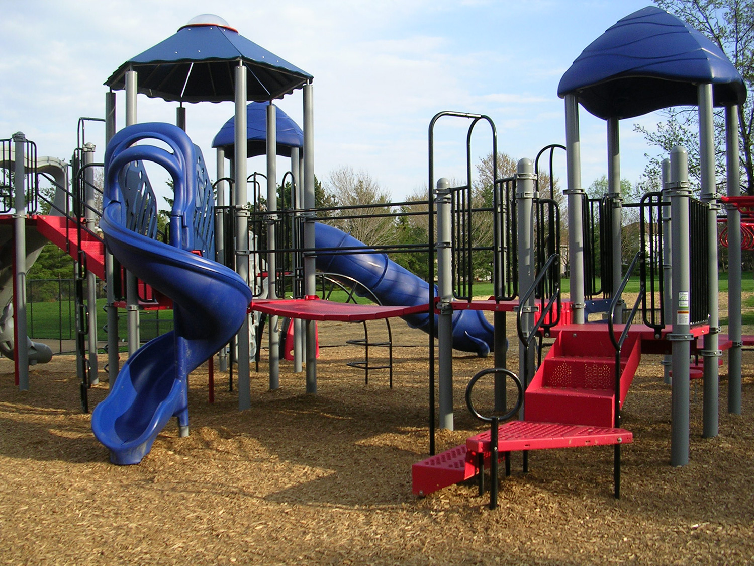 Both new play units are fully ADA approved and have transfer stations to allow use by special needs children.