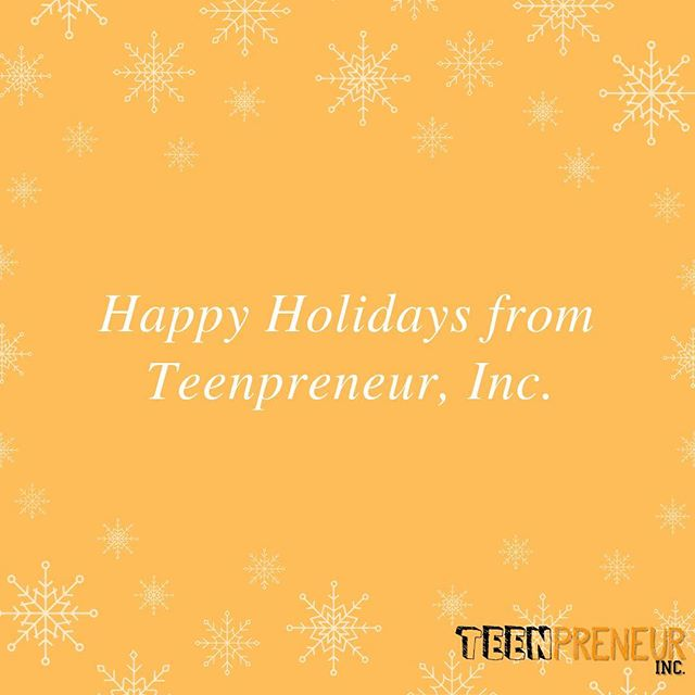 Wishing you the happiest of holidays this year!❄️☃️ #entrepreneurship #teenpreneur #teenpreneurinc #business