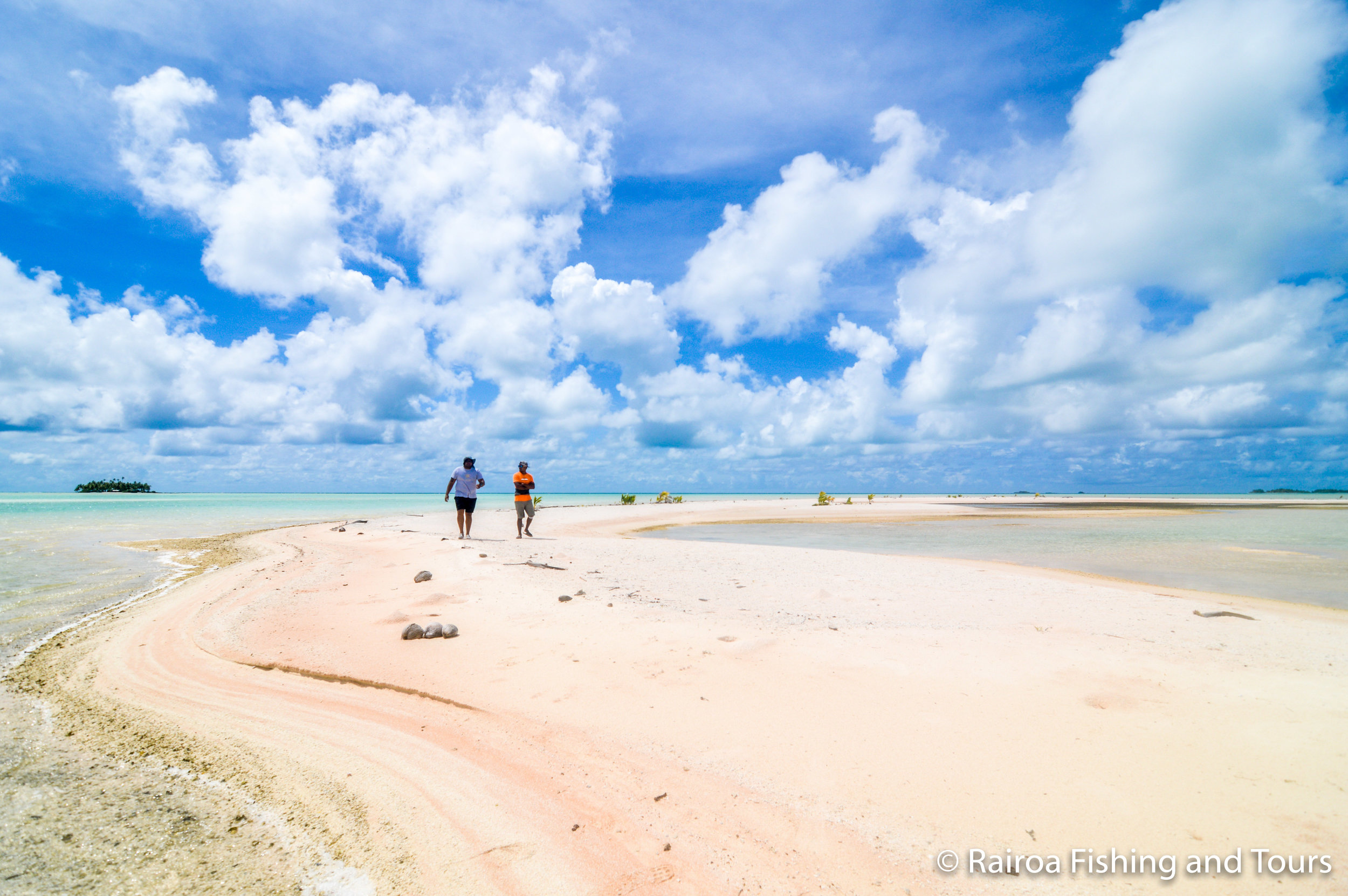 Pink sands blue lagoon
