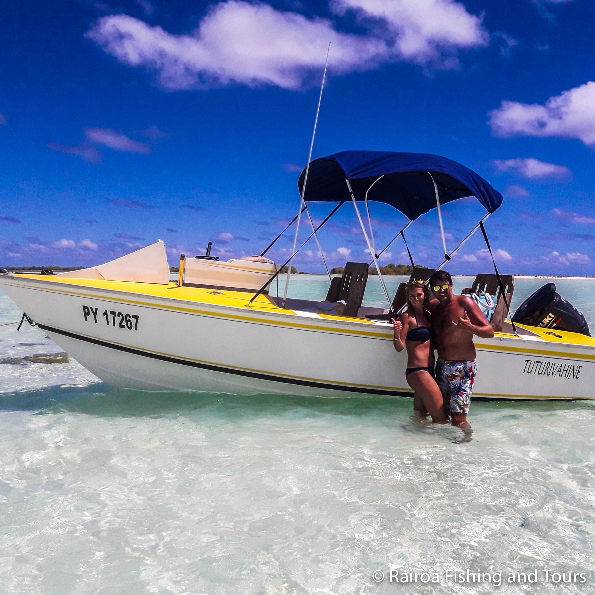 Private boat excursion blue lagoon rangiroa